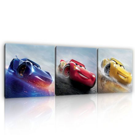 Canvas SET of 3 Disney Cars 3